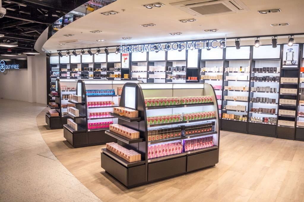luton airport retail fit-out Woods Hardwick lagardere
