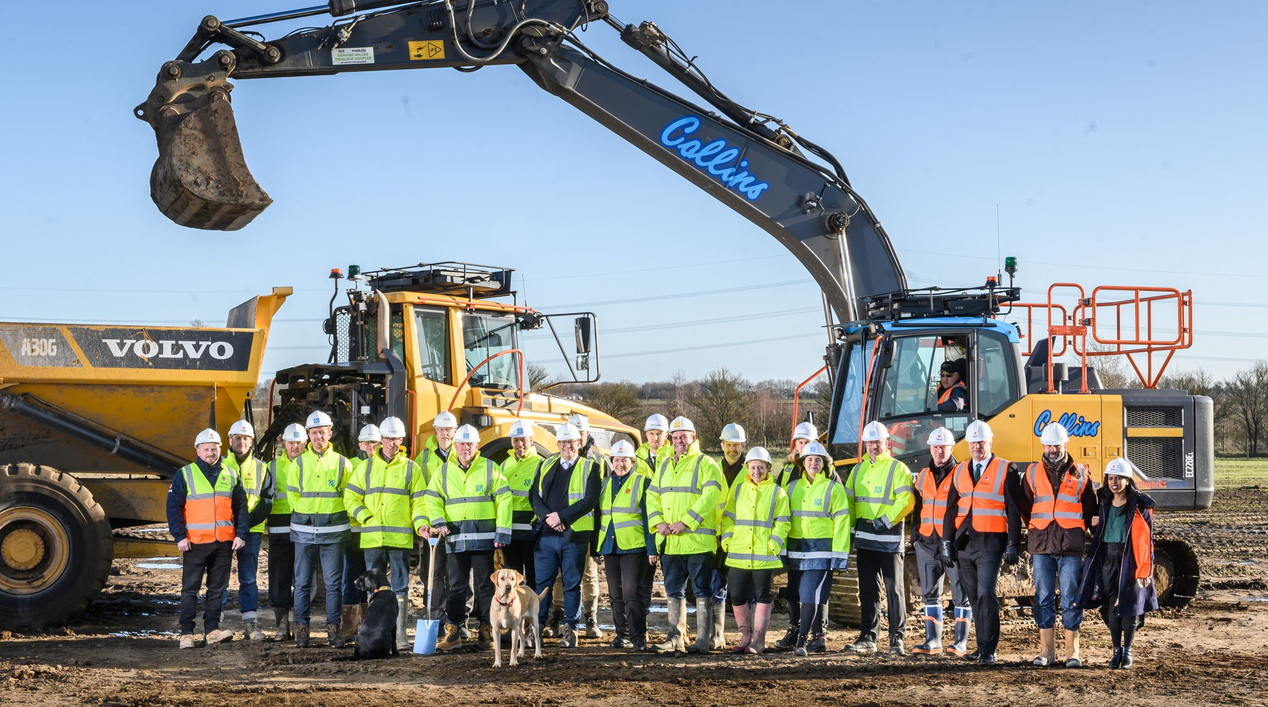 Sod-cutting ceremony at Symmetry Park, Biggleswade.