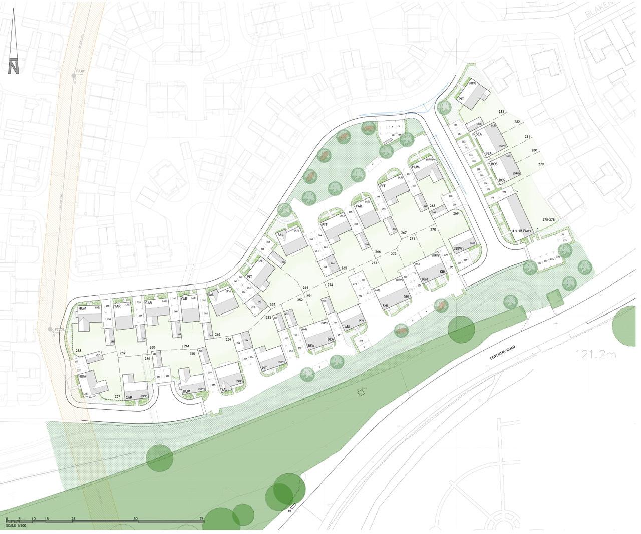 Residential development in Lutterworth